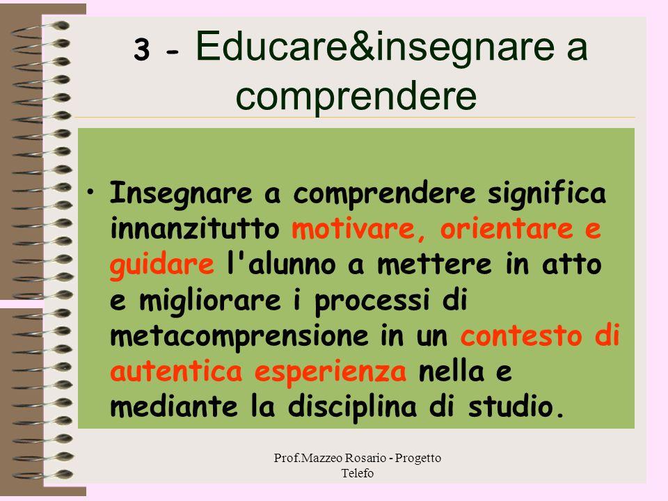 3 - Educare&insegnare a comprendere