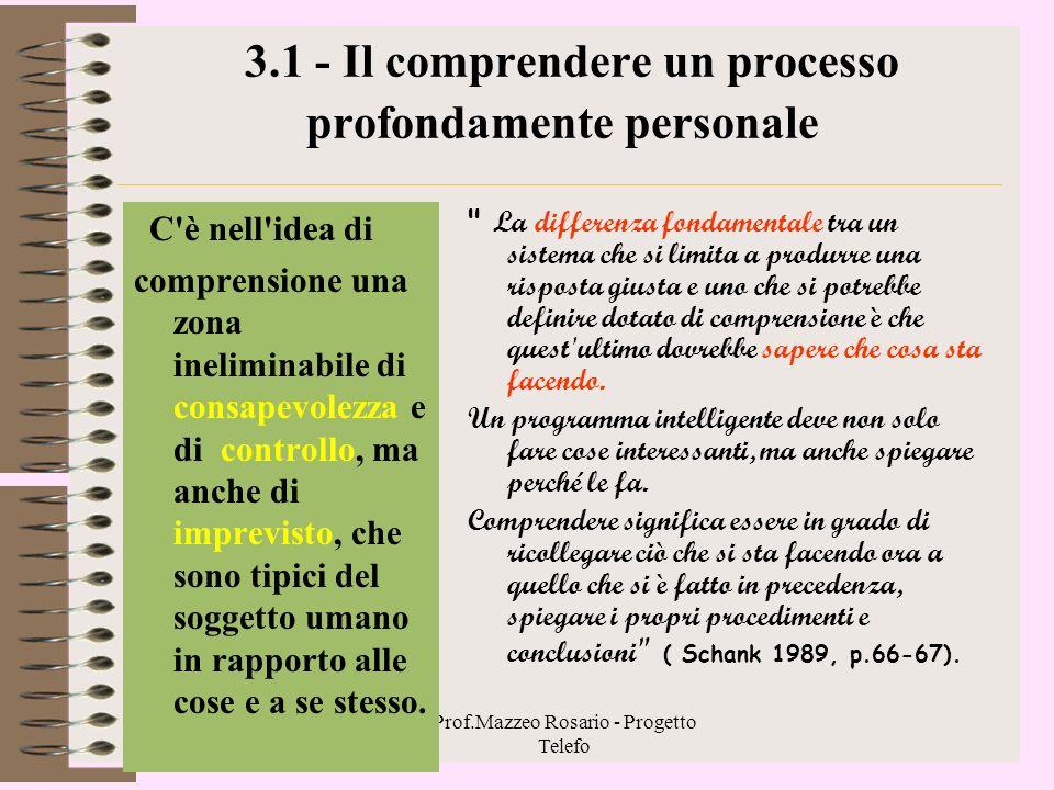 3.1 - Il comprendere un processo profondamente personale