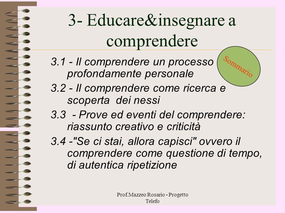 3- Educare&insegnare a comprendere
