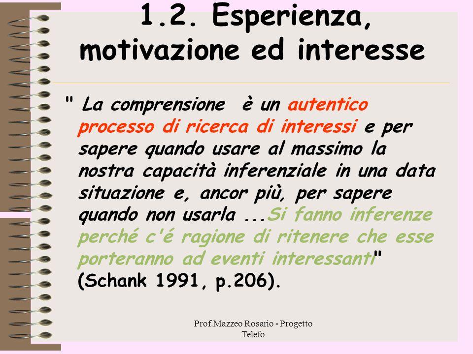 1.2. Esperienza, motivazione ed interesse