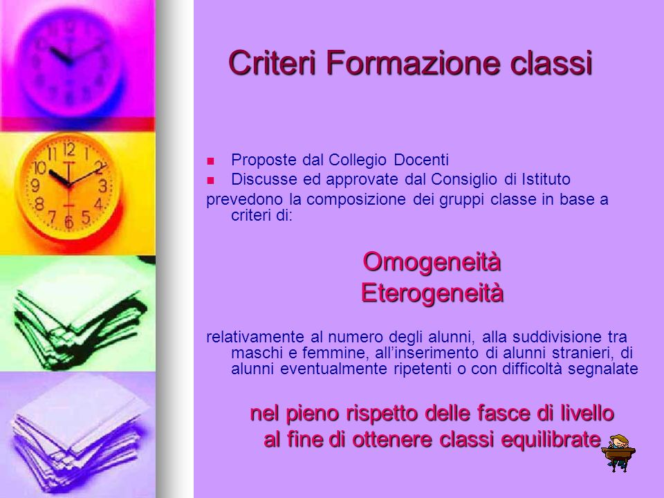Criteri Formazione classi