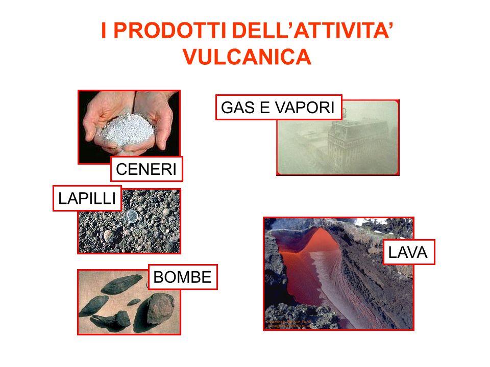 I PRODOTTI DELL'ATTIVITA' VULCANICA