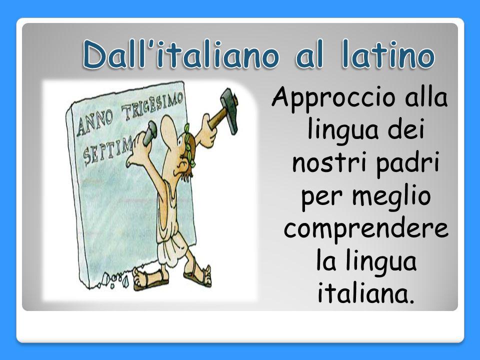 Dall'italiano al latino