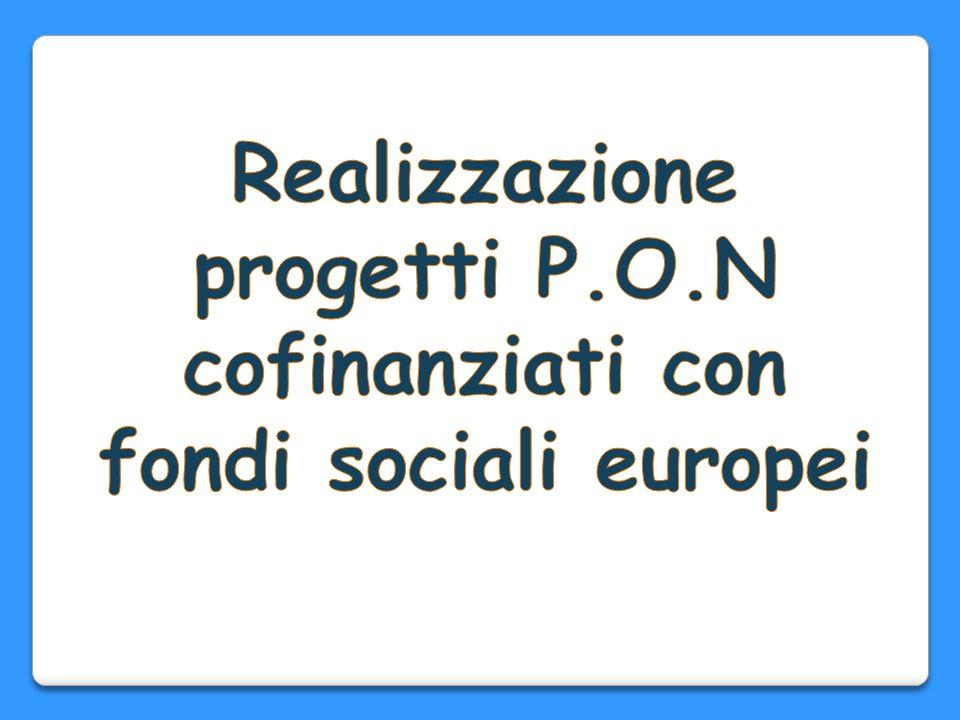 Realizzazione progetti P.O.N cofinanziati con fondi sociali europei