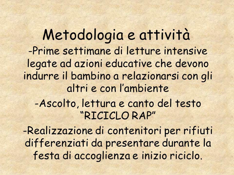 Metodologia e attività