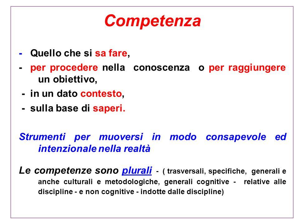 Competenza - Quello che si sa fare,