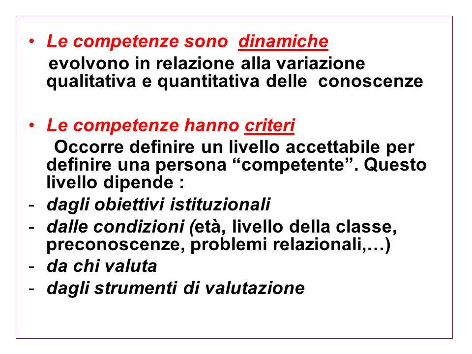 Le competenze sono dinamiche