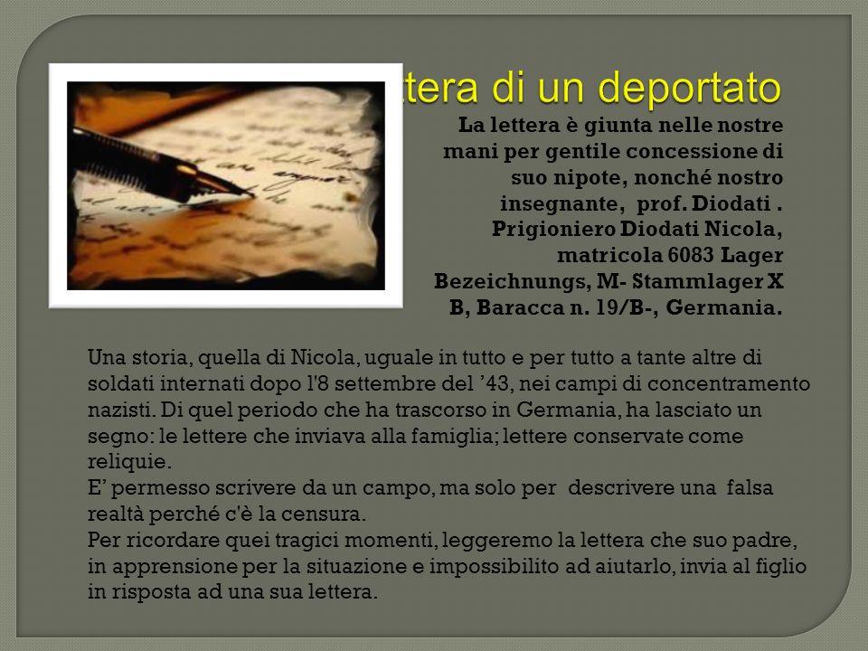 Lettera di un deportato