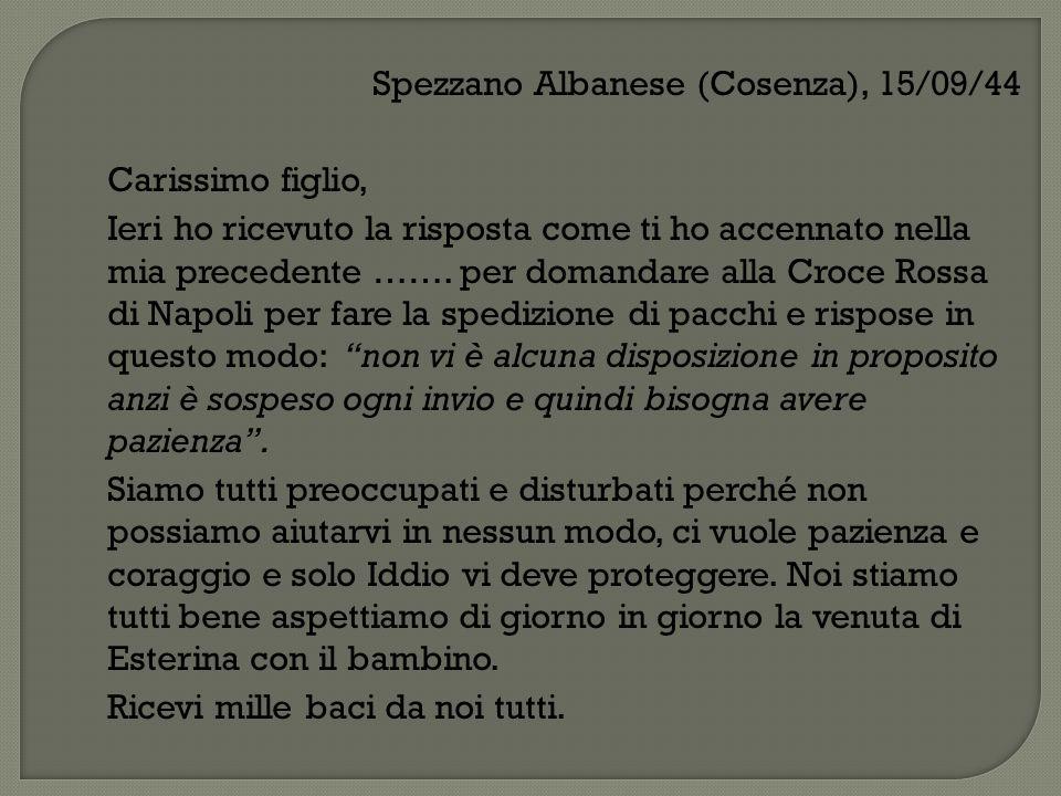 Spezzano Albanese (Cosenza), 15/09/44