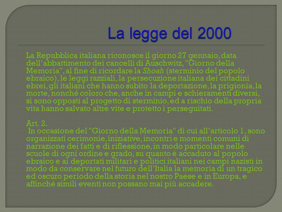 La legge del 2000