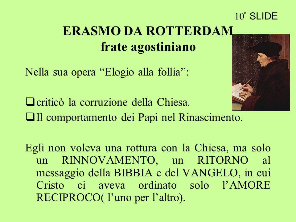 ERASMO DA ROTTERDAM frate agostiniano
