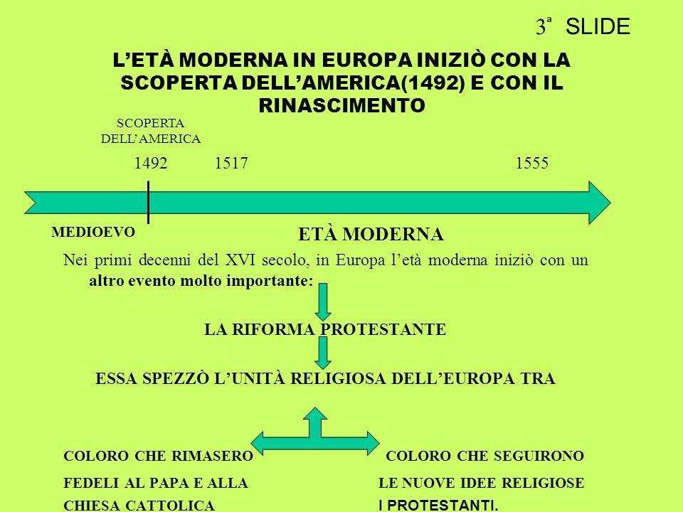 LA RIFORMA PROTESTANTE ESSA SPEZZÒ L'UNITÀ RELIGIOSA DELL'EUROPA TRA