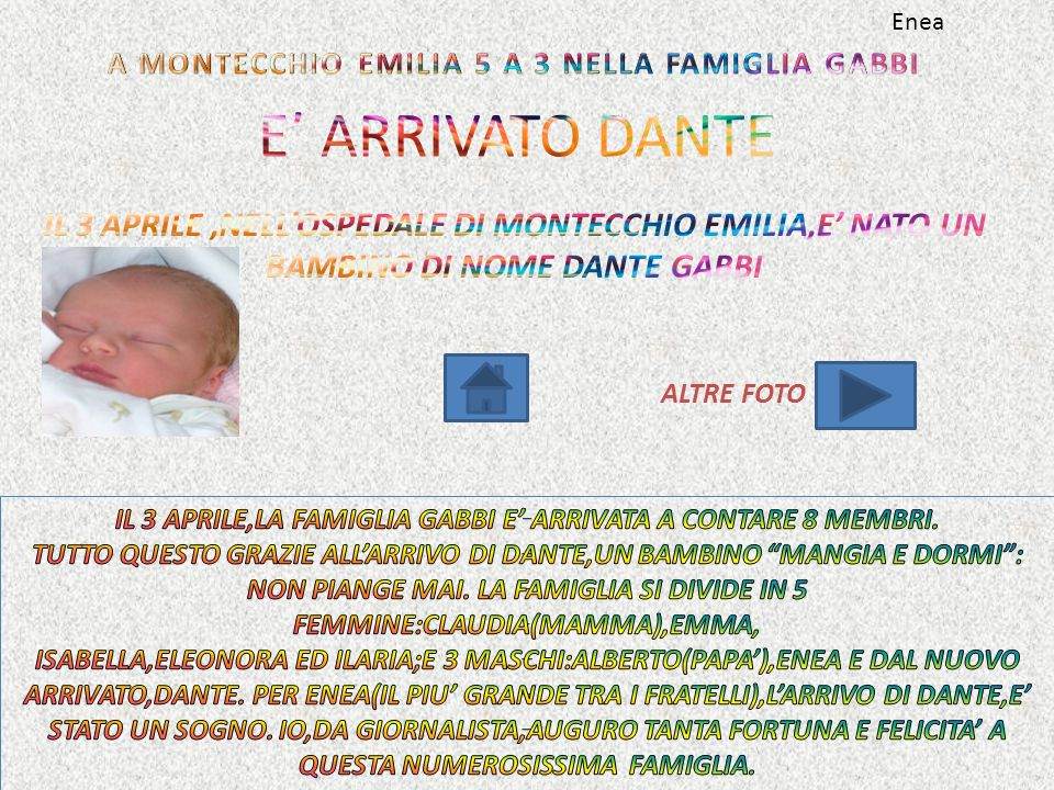 A MONTECCHIO EMILIA 5 A 3 NELLA FAMIGLIA GABBI