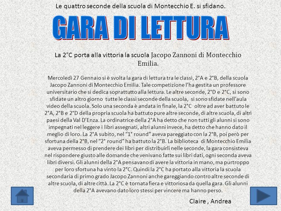 Le quattro seconde della scuola di Montecchio E. si sfidano.