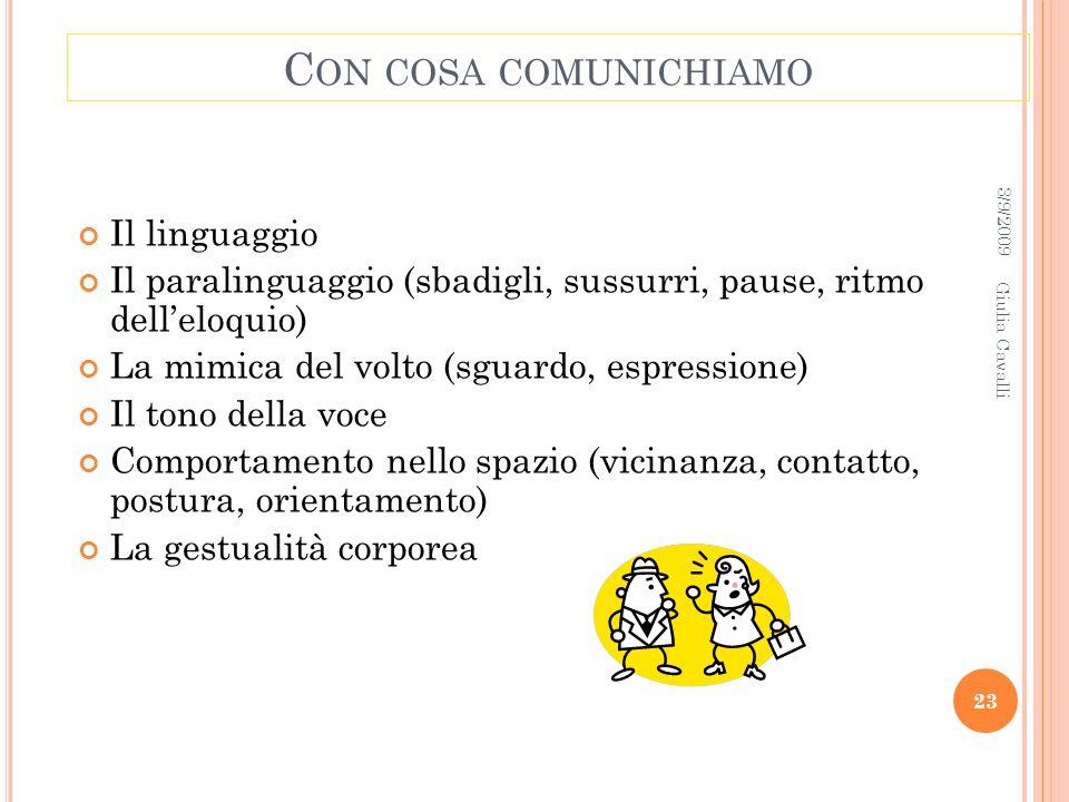 Con cosa comunichiamo Il linguaggio