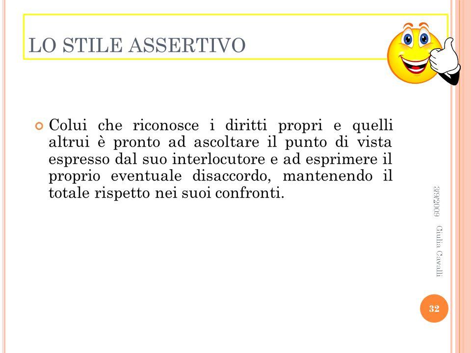 LO STILE ASSERTIVO