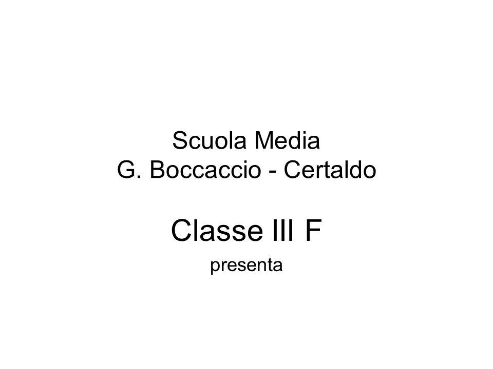 Scuola Media G. Boccaccio - Certaldo