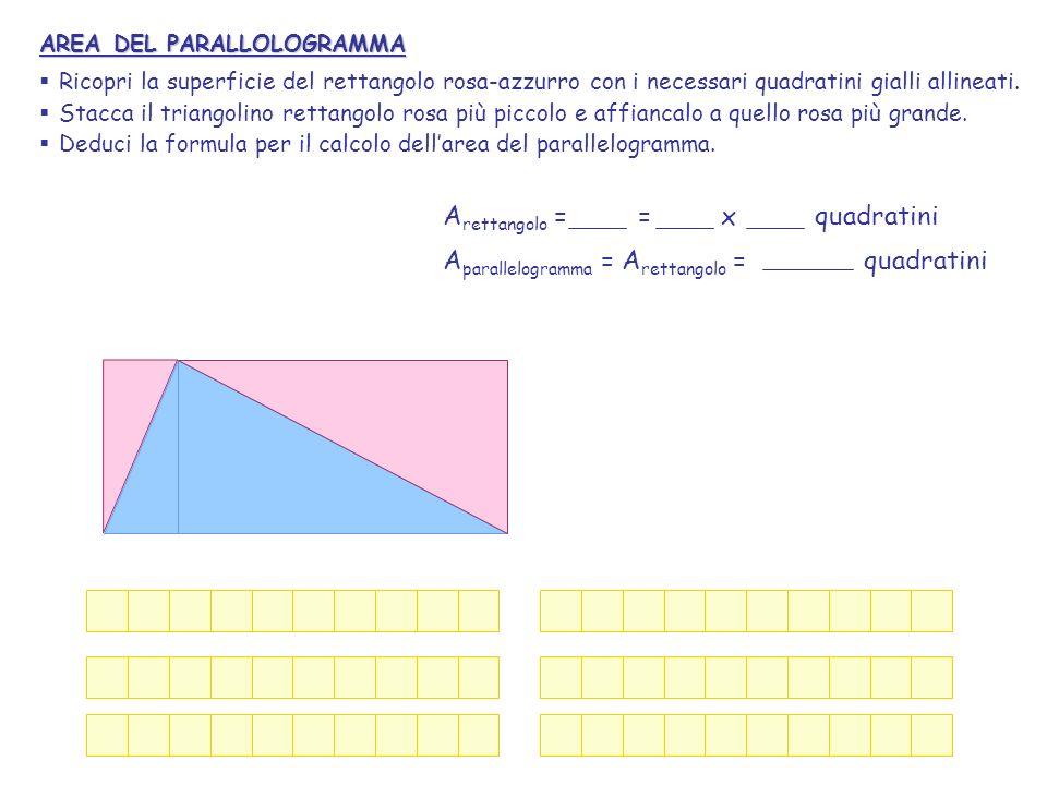 Arettangolo = = x quadratini