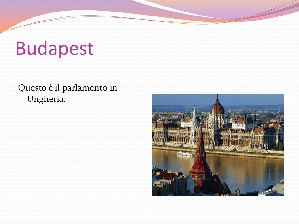 Budapest Questo è il parlamento in Ungheria.