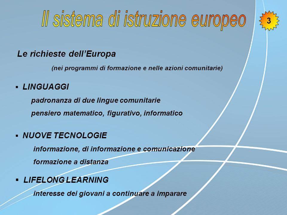 Il sistema di istruzione europeo