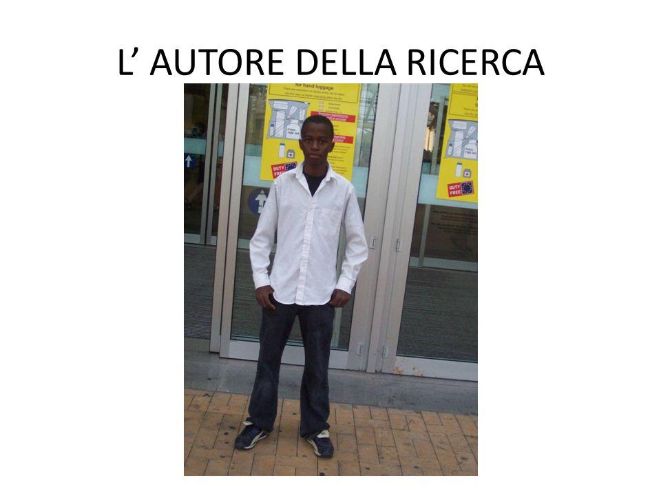 L' AUTORE DELLA RICERCA