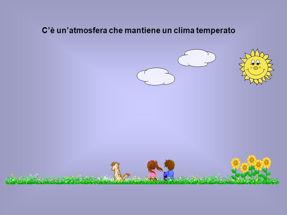 C'è un'atmosfera che mantiene un clima temperato