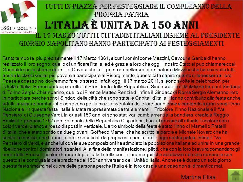 l'Italia è unita da 150 anni