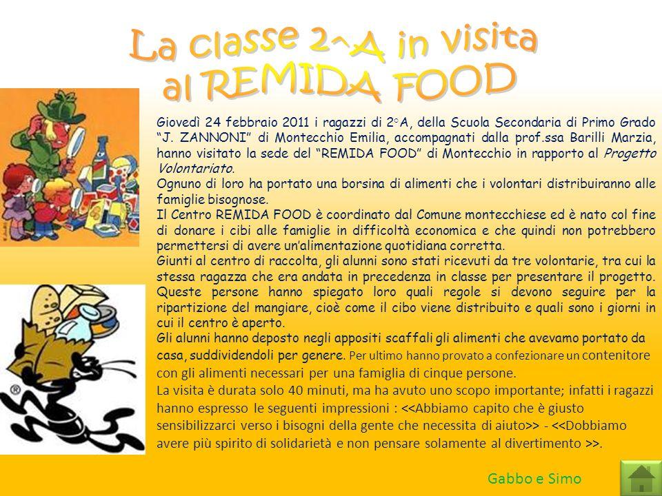 La classe 2^A in visita al REMIDA FOOD Gabbo e Simo