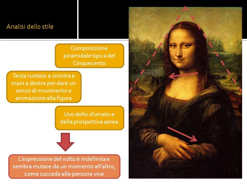 Analisi dello stile Composizione piramidale tipica del Cinquecento