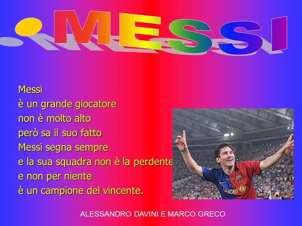 MESSI Messi è un grande giocatore non è molto alto