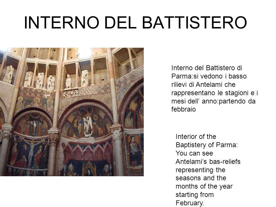 INTERNO DEL BATTISTERO