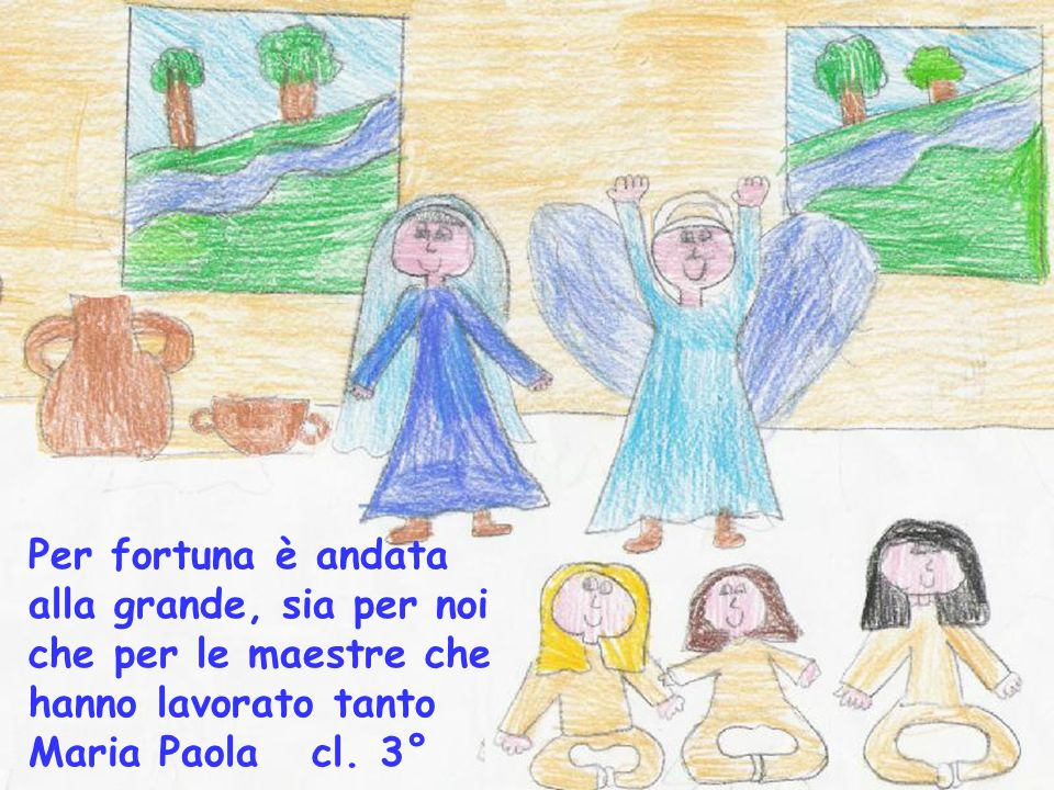 Per fortuna è andata alla grande, sia per noi che per le maestre che hanno lavorato tanto Maria Paola cl.