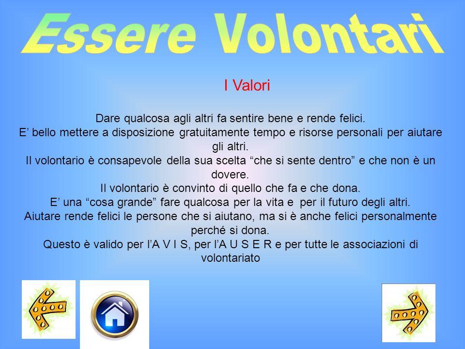 Essere Volontari I Valori
