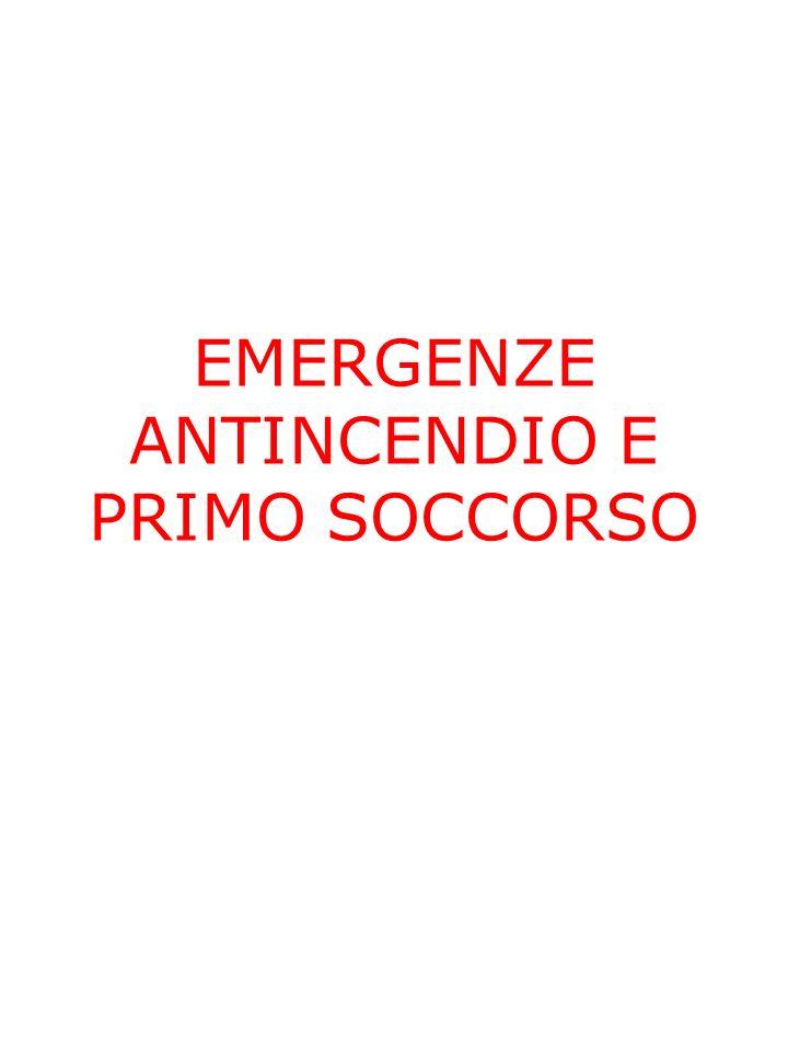 EMERGENZE ANTINCENDIO E PRIMO SOCCORSO