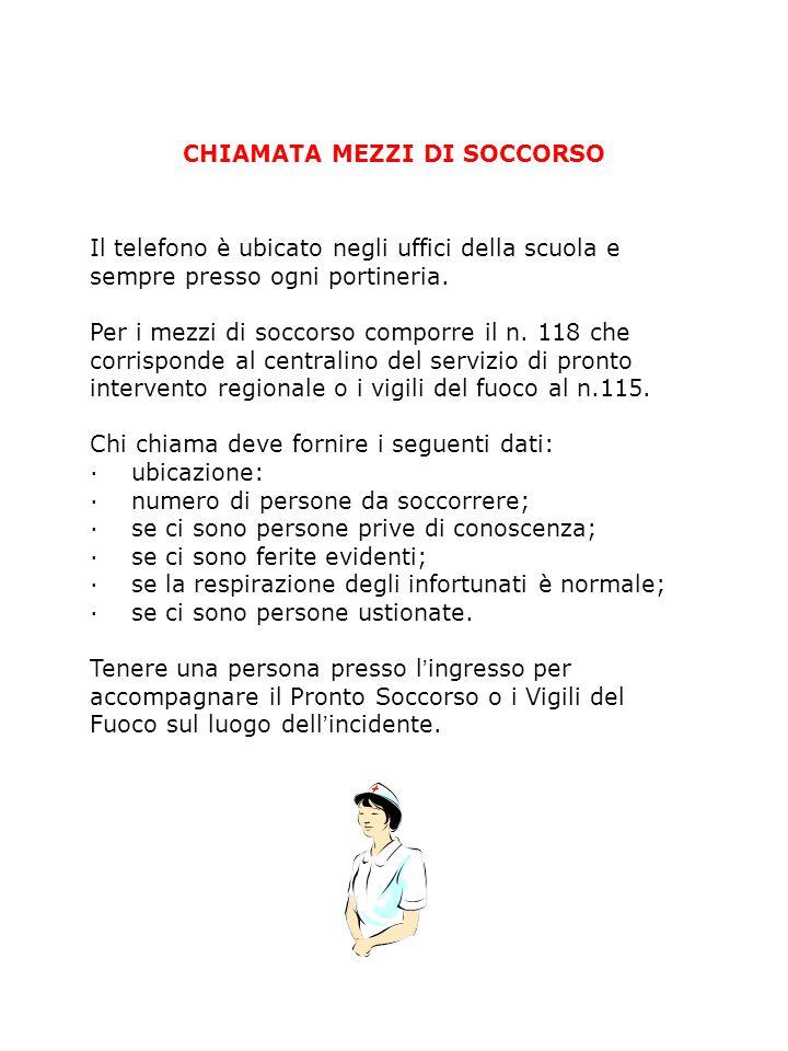 CHIAMATA MEZZI DI SOCCORSO