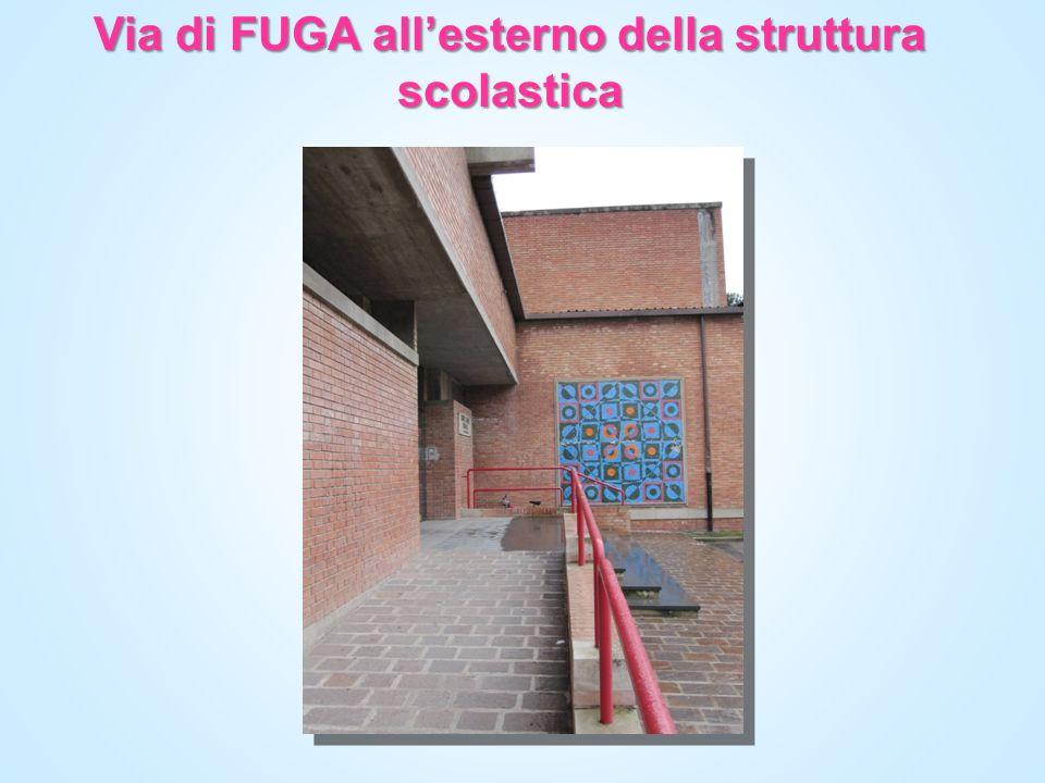 Via di FUGA all'esterno della struttura