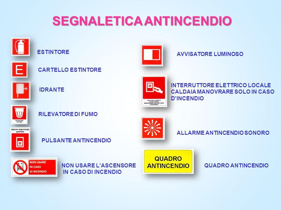 SEGNALETICA ANTINCENDIO