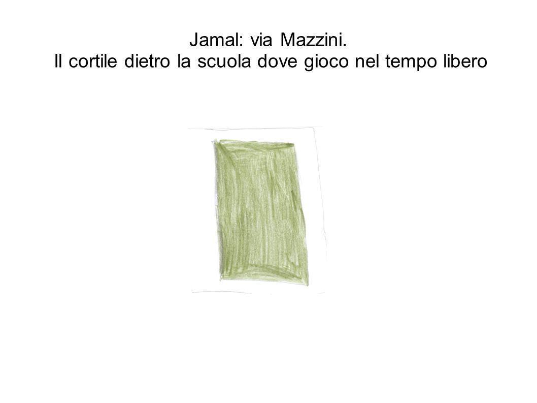 Jamal: via Mazzini. Il cortile dietro la scuola dove gioco nel tempo libero