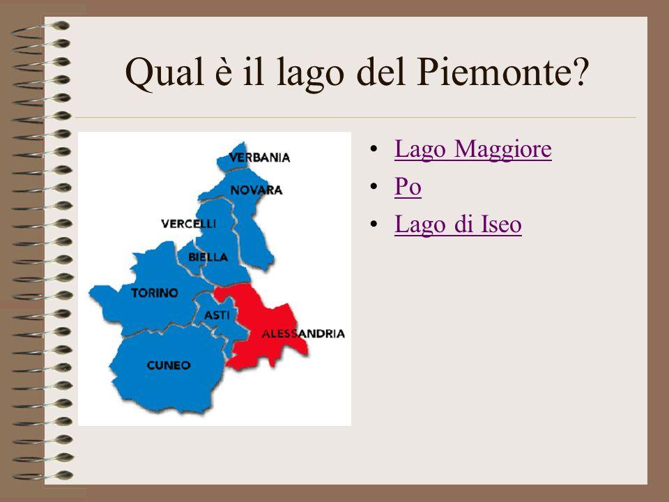 Qual è il lago del Piemonte