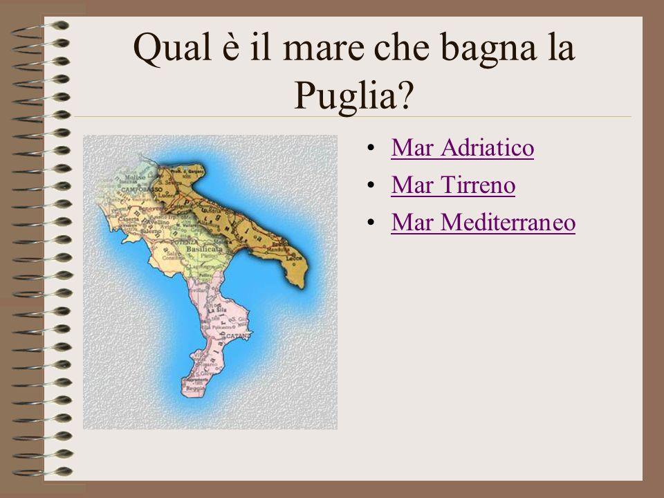 Qual è il mare che bagna la Puglia
