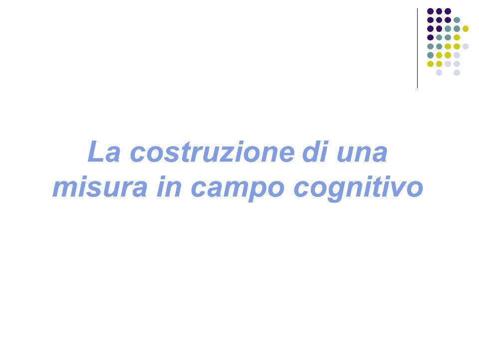 La costruzione di una misura in campo cognitivo
