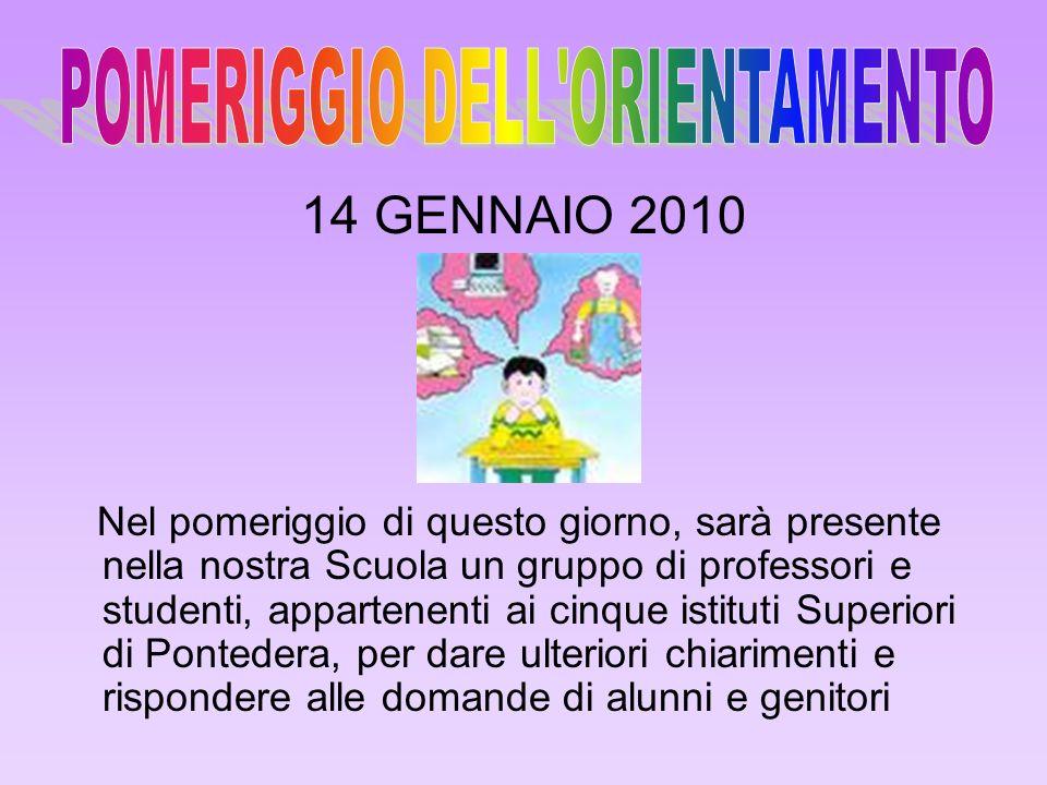 POMERIGGIO DELL ORIENTAMENTO