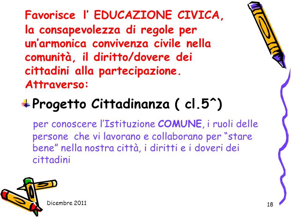 Progetto Cittadinanza ( cl.5^)