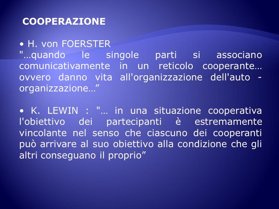 COOPERAZIONE • H. von FOERSTER.