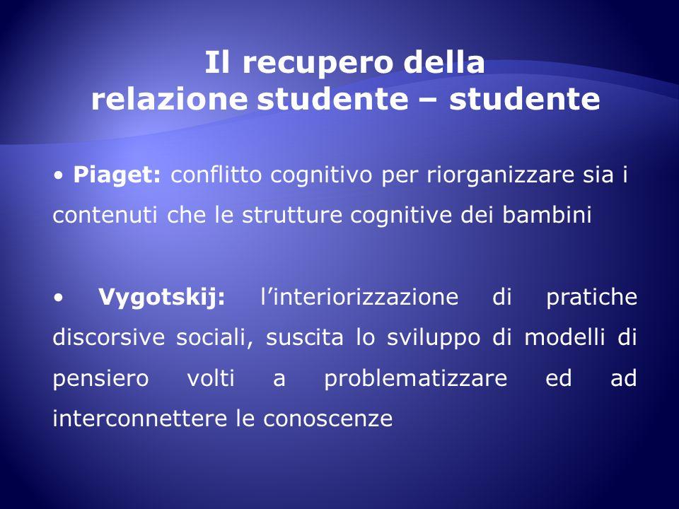 relazione studente – studente