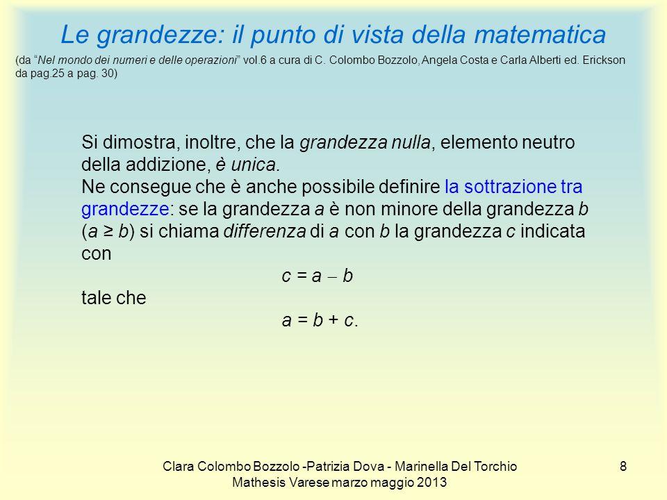 Le grandezze: il punto di vista della matematica