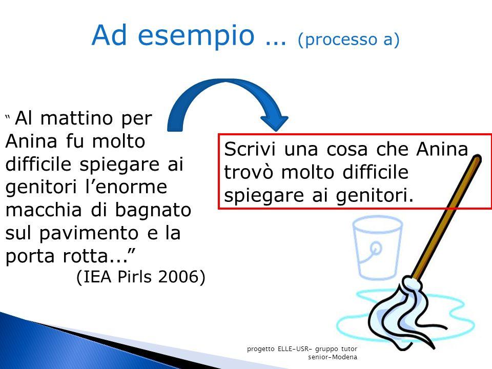 Ad esempio … (processo a)