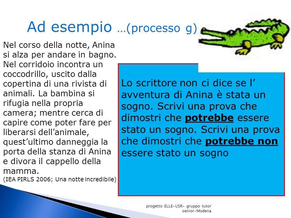 Ad esempio …(processo g)