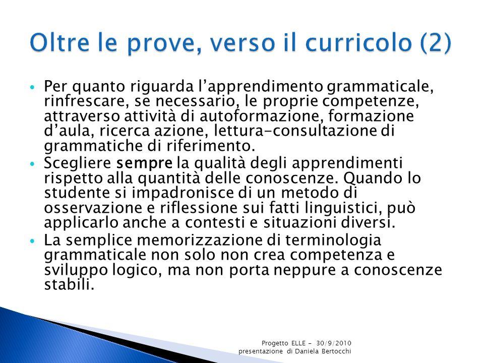 Oltre le prove, verso il curricolo (2)