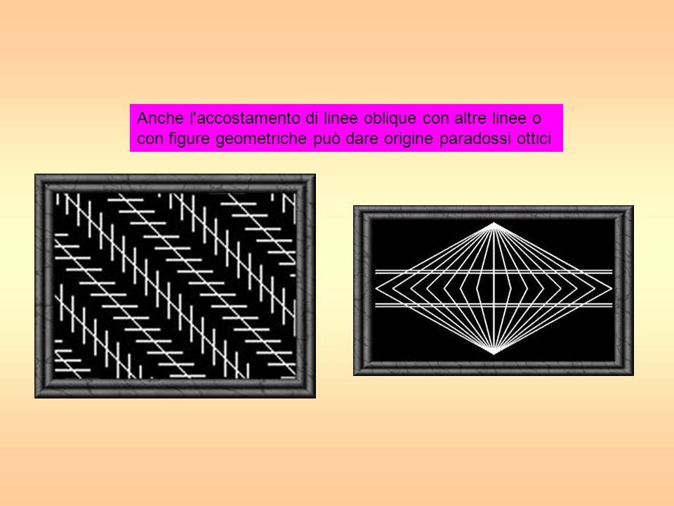 g Anche l accostamento di linee oblique con altre linee o